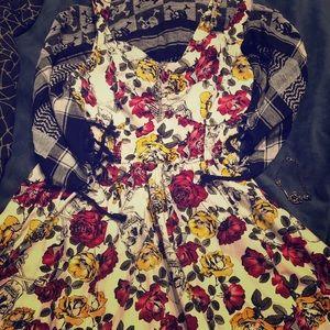 Hot Topic Skulls, Flowers, and Guns Dress